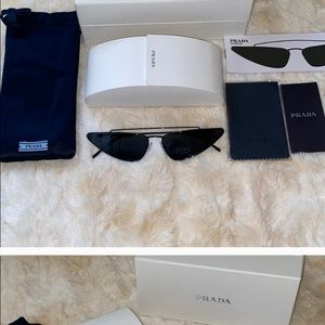 🆕 PRADA ULTRAVOX CAT EYE 68mm SUNGLASSES